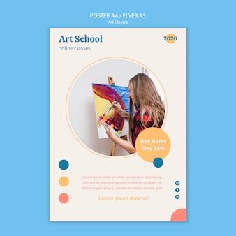 Modèle d'affiche d'école d'art