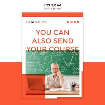 Modèle d'affiche d'école en ligne