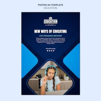 Modèle d'affiche d'éducation en ligne