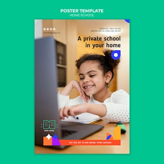 Modèle d'affiche d'enseignement à domicile