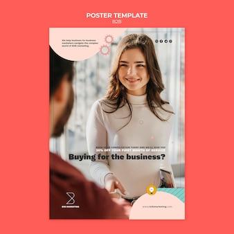 Modèle d'affiche d'entreprise à entreprise