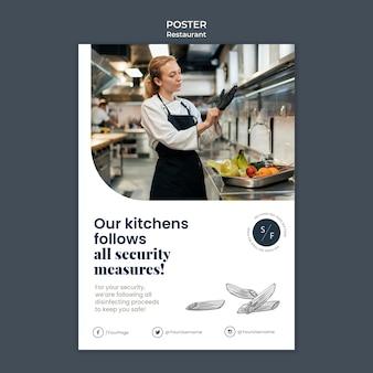 Modèle d'affiche d'entreprise de restaurant