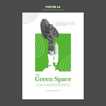 Modèle d'affiche d'espace vert