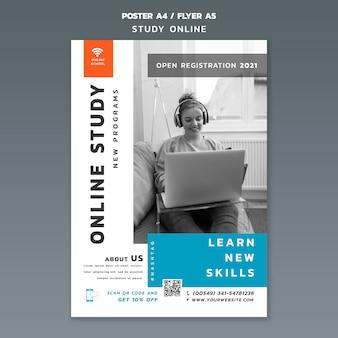 Modèle d'affiche d'étude en ligne