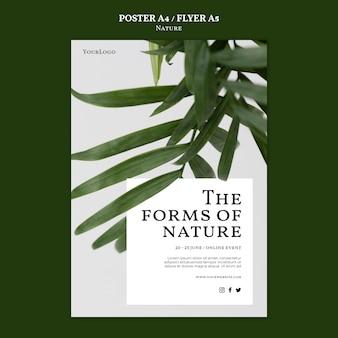 Modèle d'affiche d'événement de formes de nature
