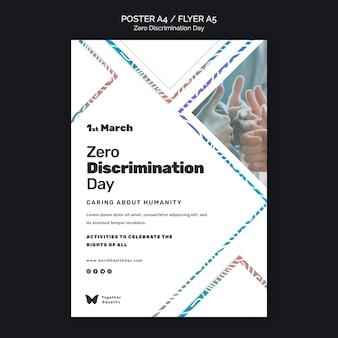 Modèle d'affiche de l'événement de la journée zéro discrimination