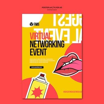 Modèle d'affiche d'événement en ligne