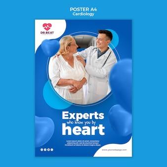 Modèle d'affiche d'experts qui vous connaissent par cœur