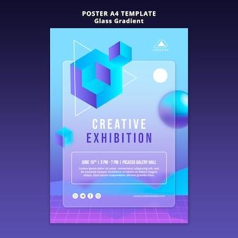 Modèle d'affiche d'exposition créative