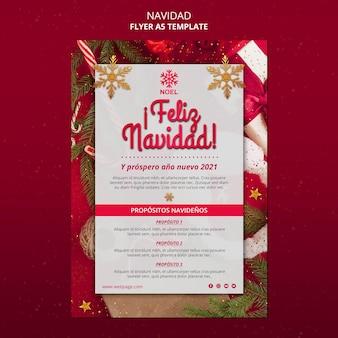 Modèle d'affiche feliz navidad