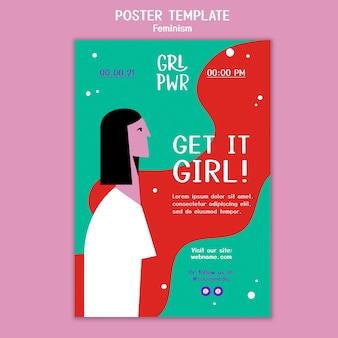 Modèle d'affiche de féminisme