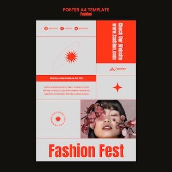 Modèle d'affiche de festival de mode