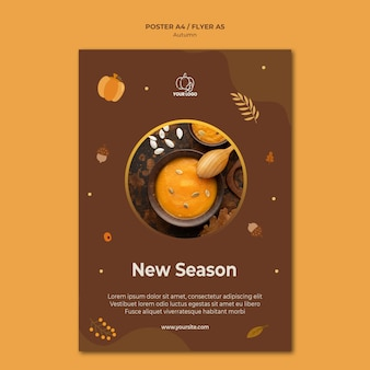 Modèle d'affiche de fête d'automne