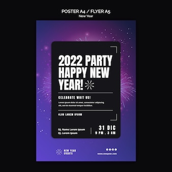 Modèle d'affiche de fête du nouvel an