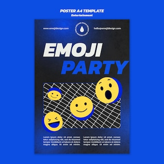 Modèle d'affiche de fête emoji
