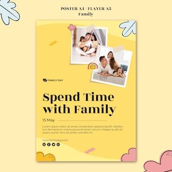 Modèle d'affiche de la fête de la famille