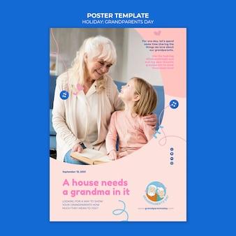 Modèle D'affiche De La Fête Des Grands-parents Psd gratuit