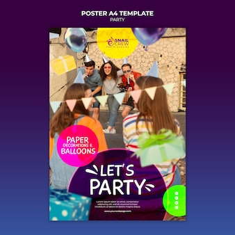 Modèle d'affiche de fête