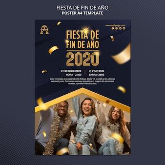 Modèle d'affiche fiesta de fin de ano