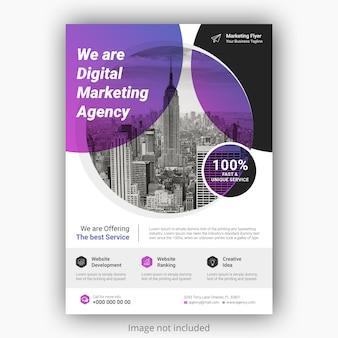 Modèle d'affiche flyer d'entreprise avec une couleur dégradée.
