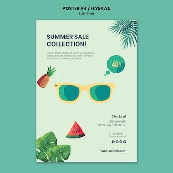 Modèle d'affiche ou de flyer d'été