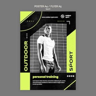 Modèle d'affiche de formation personnelle