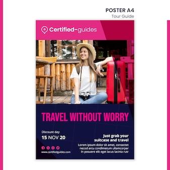 Modèle d'affiche de guide touristique
