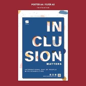 Modèle d'affiche de l'importance de l'inclusion
