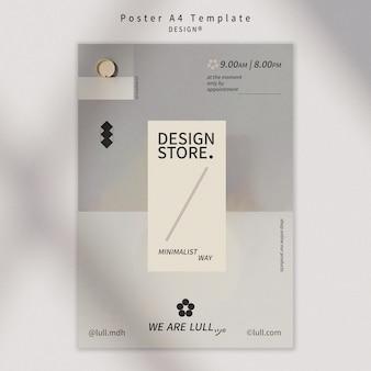 Modèle D'affiche D'intérieur Design Psd gratuit