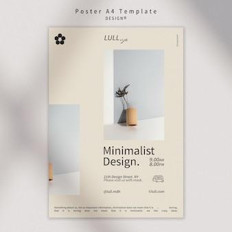 Modèle d'affiche d'intérieur design