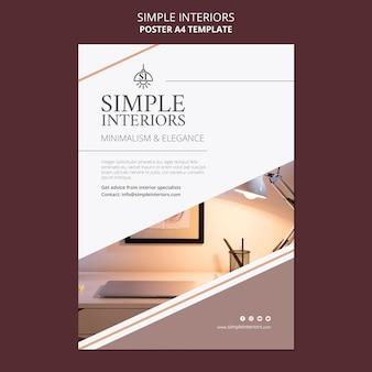 Modèle d'affiche intérieurs simples