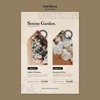 Modèle d'affiche de jardin serein