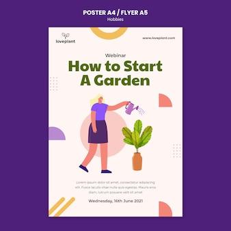 Modèle d'affiche de jardinage