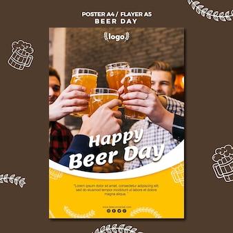 Modèle d'affiche de la journée de la bière