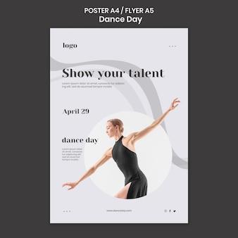 Modèle d'affiche de la journée de la danse