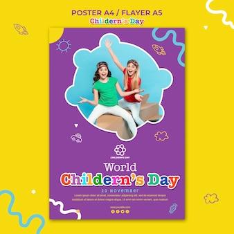 Modèle d'affiche de la journée des enfants