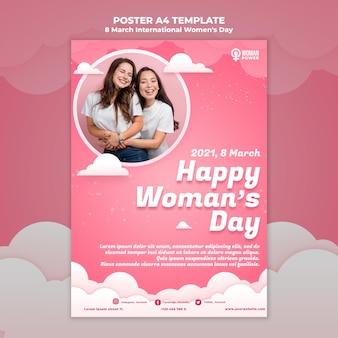 Modèle d'affiche de la journée internationale de la femme