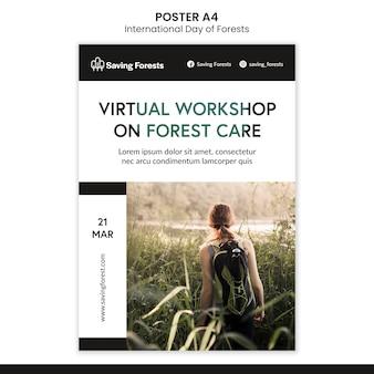 Modèle d'affiche de la journée internationale des forêts