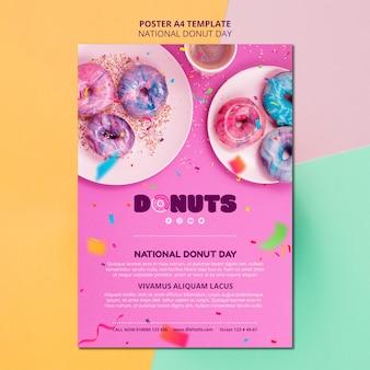 Modèle d'affiche de la journée nationale du beignet