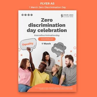 Modèle d'affiche de la journée zéro discrimination avec photo