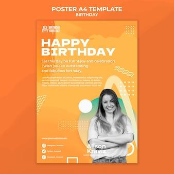 Modèle d'affiche de joyeux anniversaire