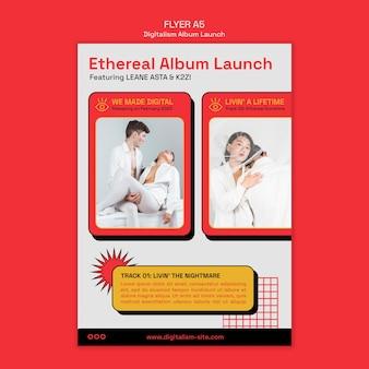 Modèle d'affiche de lancement d'album de digitalisme