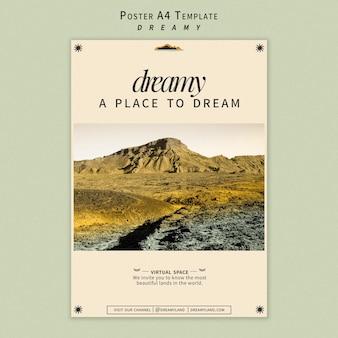 Modèle d'affiche de lieu de rêve