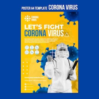 Modèle d'affiche de lutte contre le virus