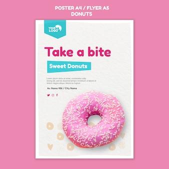 Modèle d'affiche de magasin de beignets