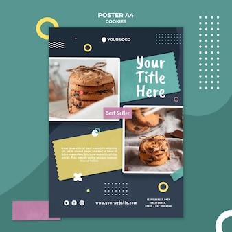 Modèle d'affiche de magasin de biscuits