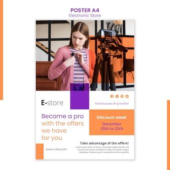 Modèle d'affiche de magasin électronique