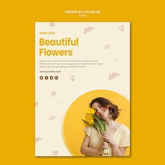 Modèle d'affiche de magasin de fleuriste