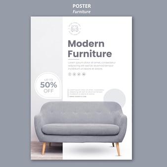 Modèle d'affiche de magasin de meubles