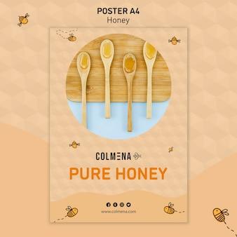Modèle d'affiche de magasin de miel